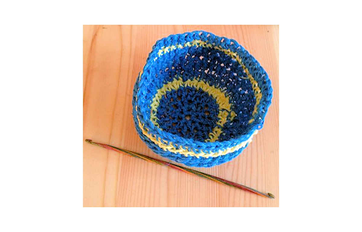 Crochet Hemp Bowel