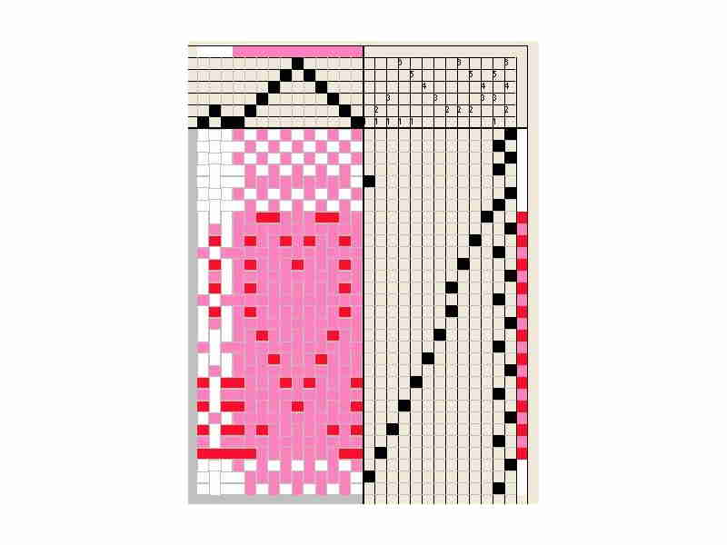 Heart Weaving Draft