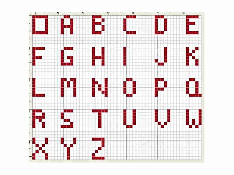 ABC Knitting Chart