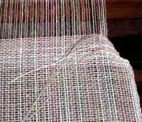 V Neck Shaping on Loom