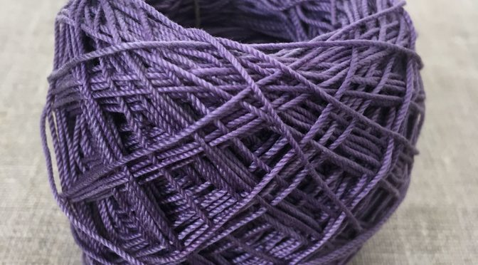 Logwood Dyed Crochet Cotton Yarn
