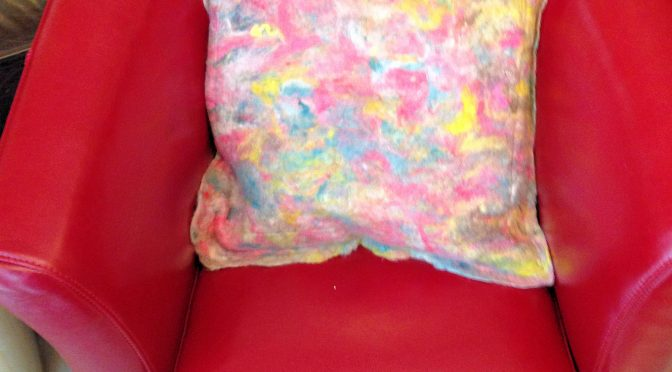 Wet Felted Pillow