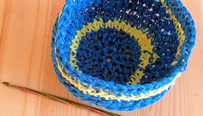 Hemp Crochet Bowl