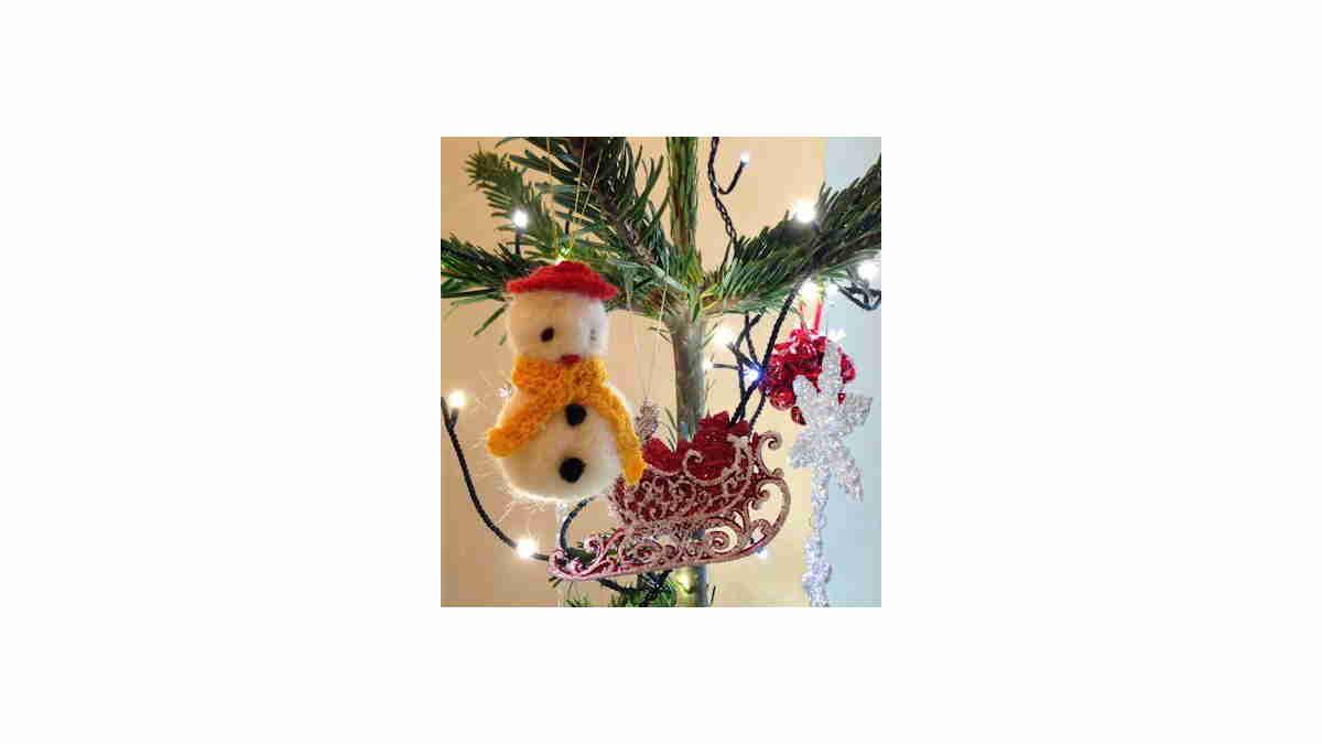 Needle Felt Snowman
