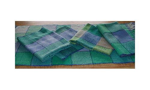 Green Blue Tea Towels